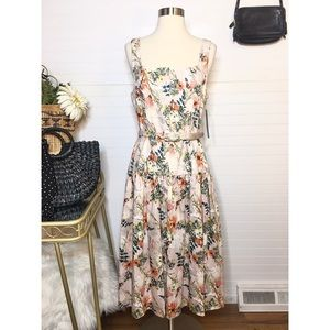 NEW Antonio Melani Foral Midi Dress